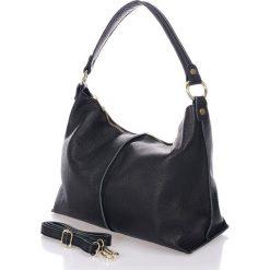 Torebki klasyczne damskie: Skórzana torebka w kolorze czarnym – 33 x 27 x 13 cm