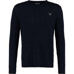 GANT CABLE CREW Sweter evening blue. Niebieskie swetry klasyczne męskie GANT, m, z bawełny. Za 629,00 zł.