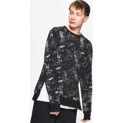 Bluzy męskie: Bluza z zamkami kolekcja whatever – Czarny