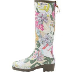 Aigle MISS JULIETTE PRINT Kalosze khaki. Brązowe buty zimowe damskie Aigle, z kauczuku. W wyprzedaży za 382,85 zł.