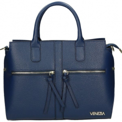 Torba - 8-010-O D BLU. Żółte torebki klasyczne damskie Venezia, ze skóry. Za 265,00 zł.