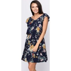Sukienki: Granatowa Sukienka Harvest Moon