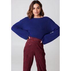 NA-KD Krótki sweter z dzianiny z długim rękawem - Blue. Niebieskie swetry klasyczne damskie NA-KD, z dzianiny. Za 121,95 zł.