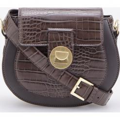 Torebka z teksturą skóry krokodyla - Brązowy. Brązowe torebki klasyczne damskie marki Reserved, ze skóry. Za 119,99 zł.