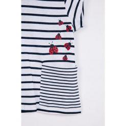Blukids - Top dziecięcy 68-98 cm. Szare bluzki dziewczęce bawełniane marki bonprix, m, melanż, z kontrastowym kołnierzykiem. W wyprzedaży za 27,90 zł.