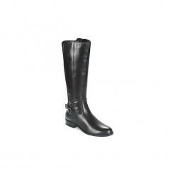 Kozaki André  BLACK METAL. Czarne buty zimowe damskie marki Andre. Za 519,20 zł.