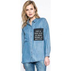 Only - Koszula. Szare koszule jeansowe damskie ONLY, casualowe, z długim rękawem. W wyprzedaży za 69,90 zł.