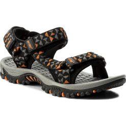 Sandały HI-TEC - Cersis AVSSS17-HT-01 Black/Orange. Brązowe sandały męskie Hi-tec, z materiału. W wyprzedaży za 119,99 zł.