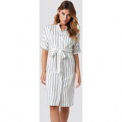 MANGO Sukienka Agnes Midi - White,Offwhite. Szare sukienki mini marki Mango, na co dzień, l, z tkaniny, casualowe, z dekoltem halter, na ramiączkach, rozkloszowane. Za 202,95 zł.