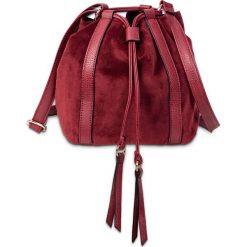 Torebka na ramię bonprix czerwony klonowy. Czerwone torebki worki bonprix, w paski. Za 69,99 zł.