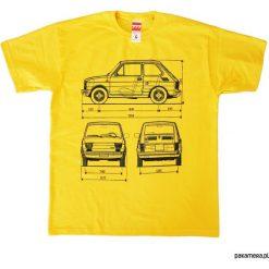 Koszulka FIAT 126 MALUCH YELLOW tshirt. Żółte t-shirty męskie marki ATORKA, xs, z elastanu. Za 77,00 zł.