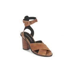 Sandały Vero Moda  VMDINA LEATHER SANDAL. Brązowe sandały damskie Vero Moda. Za 279,20 zł.