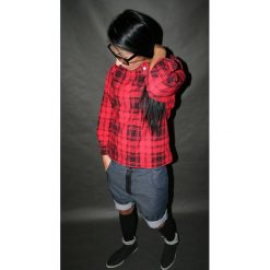 Button jeans short pants krótkie spodenki. Czarne bermudy damskie Pakamera, z bawełny. Za 379,00 zł.