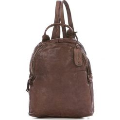 Plecaki damskie: Skórzany plecak w kolorze brązowym – 25 x 29 x 13 cm