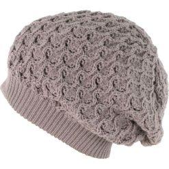Czapka damska Ażurowa beżowa. Brązowe czapki zimowe damskie Art of Polo, w ażurowe wzory. Za 37,60 zł.