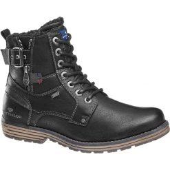 Kozaki męskie Tom Tailor czarne. Czarne buty zimowe męskie marki House. Za 299,90 zł.