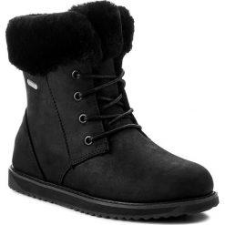 Śniegowce EMU AUSTRALIA - Shoreline Leather Lo W11588 Black. Szare buty zimowe damskie marki EMU Australia, z gumy. Za 859,00 zł.