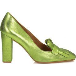 Czółenka: Zielone czółenka damskie