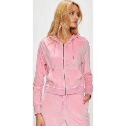 Only - Bluza. Różowe bluzy rozpinane damskie ONLY, l, z dzianiny, z kapturem. W wyprzedaży za 99,90 zł.