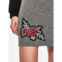 Spódniczki: Spódnica z aplikacją - Jasny szar