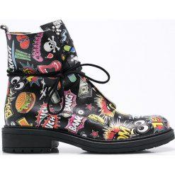 Carinii - Botki. Szare buty zimowe damskie marki Carinii, z materiału, z okrągłym noskiem, na sznurówki. W wyprzedaży za 199,90 zł.