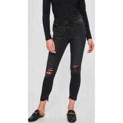Vero Moda - Jeansy Seven. Szare jeansy damskie rurki marki Vero Moda, z bawełny. W wyprzedaży za 89,90 zł.