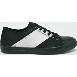 Calvin Klein Jeans - Tenisówki. Czarne tenisówki męskie marki Calvin Klein Jeans, z gumy, na sznurówki. Za 449,90 zł.