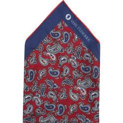 Krawaty męskie: VON FLOERKE EINSTECKTUCH Krawat bordeaux
