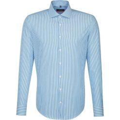 Koszule męskie na spinki: Koszula – Slim fit – w kolorze turkusowo-białym