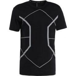 T-shirty męskie: Neil Barrett BLACKBARRETT SYMMETRIC LINES CREW NECK Tshirt z nadrukiem black/silver reflective