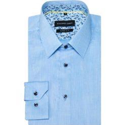 Koszula MICHELE KDNE000361. Czarne koszule męskie na spinki marki Giacomo Conti, m, z bawełny, z klasycznym kołnierzykiem. Za 259,00 zł.