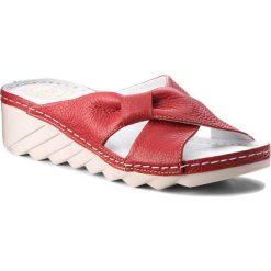 Chodaki damskie: Klapki WALDI - 0570 Czerwony