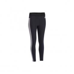 Legginsy slim Gym & Pilates 500 damskie. Czarne legginsy sportowe damskie Adidas, xs, z bawełny. Za 119,99 zł.