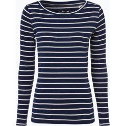 Esprit Casual - Damska koszulka z długim rękawem, niebieski. Niebieskie t-shirty damskie Esprit Casual, l, w paski, z bawełny, z klasycznym kołnierzykiem. Za 119,95 zł.