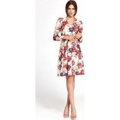 Sukienki: Wizytowa Sukienka w Serek z Dołem z Zakładkami