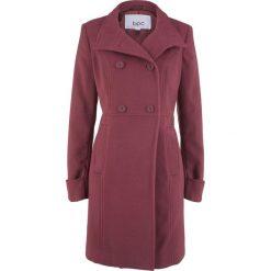 Płaszcz bonprix czerwony klonowy. Czerwone płaszcze damskie bonprix. Za 189,99 zł.