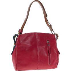 Torebki klasyczne damskie: Skórzana torebka w kolorze czerwonym – 39 x 25 x 10 cm