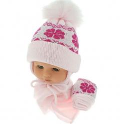 Czapka niemowlęca z szalikiem i rękawiczkami CZ+S+R 012C. Szare czapeczki niemowlęce Proman. Za 46,14 zł.