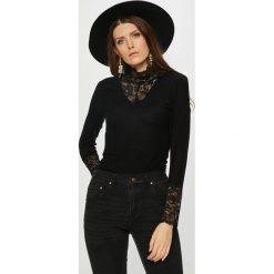 Vero Moda - Bluzka. Czarne bluzki z golfem marki Vero Moda, l, z dzianiny, casualowe. Za 119,90 zł.