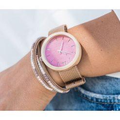 Zegarek Neat Zegarek damski New Hoop drewniany klon różowo-złoty 38mm. Czerwone zegarki damskie Neat, złote. Za 324,00 zł.