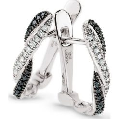 Wspaniałe Kolczyki Białe Złoto - złoto białe 333, Diament 0,07ct. Białe kolczyki damskie W.KRUK, z diamentem, złote. Za 1690,00 zł.