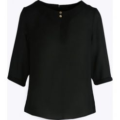 Czarna Bluzka Sign Heart. Czarne bluzki damskie Born2be, xl, z okrągłym kołnierzem. Za 49,99 zł.