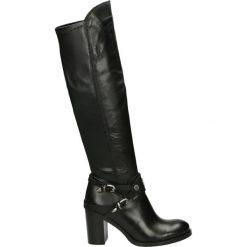 Kozaki - AIDA-D-56 NER. Czarne buty zimowe damskie Venezia, ze skóry. Za 639,00 zł.
