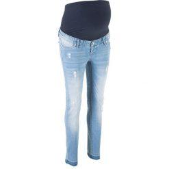 Dżinsy ciążowe SKINNY bonprix niebieski bleached. Niebieskie jeansy damskie skinny marki House, z jeansu. Za 129,99 zł.