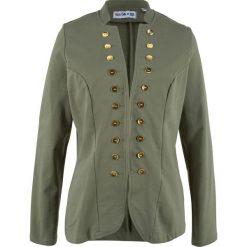 Żakiet dresowy, długi rękaw, z kolekcji Maite Kelly bonprix oliwkowy. Brązowe marynarki i żakiety damskie marki bonprix. Za 99,99 zł.