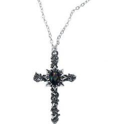 Naszyjniki damskie: Alchemy Gothic Ivy Cross Naszyjnik srebrny