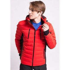 Kurtka narciarska męska KUMN155Z - czerwony - 4F. Czerwone kurtki sportowe męskie 4f, na jesień, m, z dzianiny, z kapturem. Za 999,99 zł.