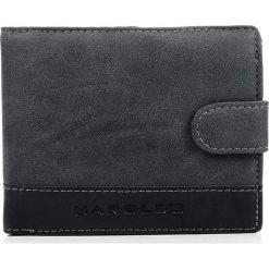 Czarny mocny portfel męski HAROLD'S DUKE. Czarne portfele męskie Harold's, ze skóry ekologicznej. Za 49,90 zł.