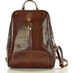 Plecaki damskie: DARELLE Plecak skórzany włoski brązowa