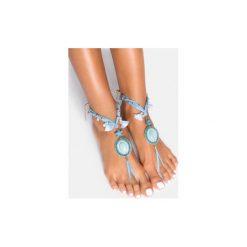 Bransoletki damskie na nogę: Niebieska bransoletka na stopę Sea Star